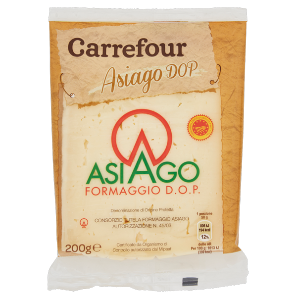 Image of Carrefour Asiago DOP 200 g 1504010