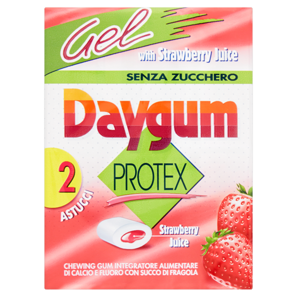 Image of Daygum Protex gel with strawberry juice 2 astucci 60 g 1311571