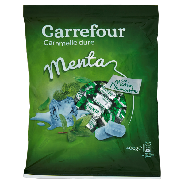 Image of Carrefour Menta caramelle dure 400 g 989057