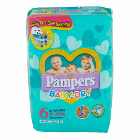 PANNOLINI PAMPERS BABY DRY XL