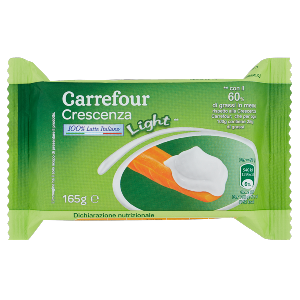 Image of Carrefour Crescenza Light** 165 g 1510784