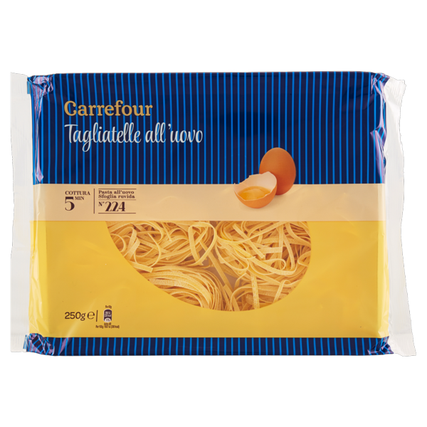 Image of Carrefour Tagliatelle all'uovo N°224 250 g 799236