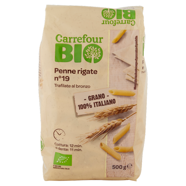 Image of Carrefour Bio Penne rigate n°19 500 g 901644