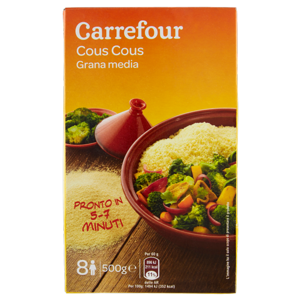 Image of Carrefour Cous Cous Grana media 500 g 1151111