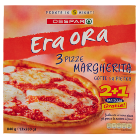 Despar Era Ora 3 Pizze Margherita Surgelate 3 x 280 g