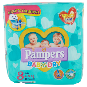 Pampers BABY DRY Midi x20