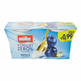 CREMA YOGURT 0.1 MIRTILLO     2 X 125 GR  MULLER