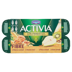 YOGURT ACTIVIA FRUTTA&FIBRE 125GX8 MIX