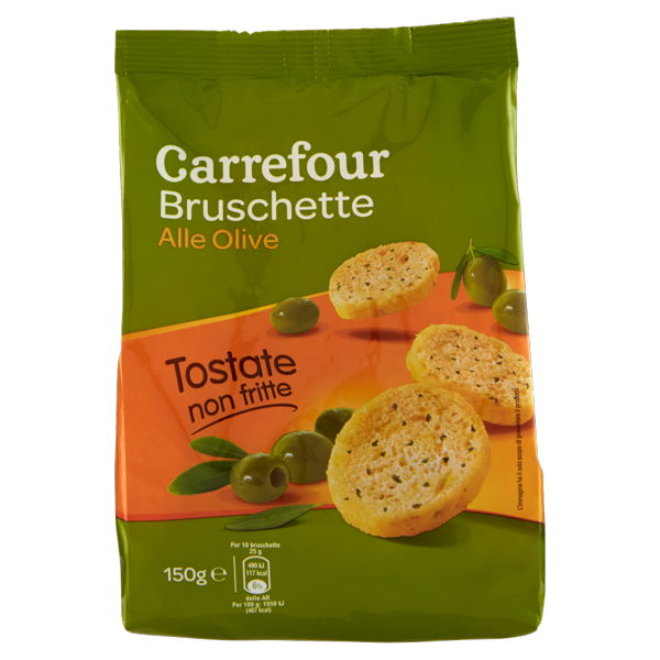 Image of Carrefour Bruschette alle Olive 150 g 1094607