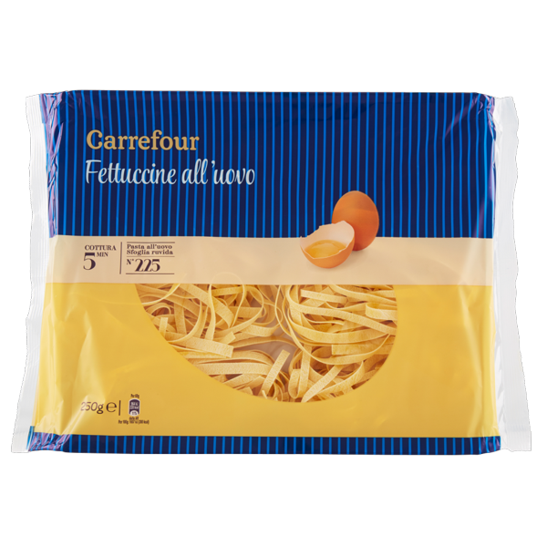 Image of Carrefour Fettuccine all'uovo N°225 250 g 799252