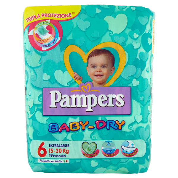 Image of Pampers Baby Dry XL PB x19 1379384
