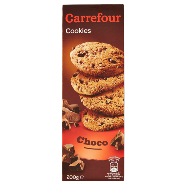 Image of Carrefour Cookies Choco 200 g 975573