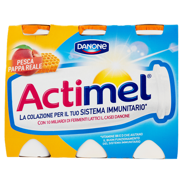 Image of Danone Actimel Pesca e Pappa Reale 6 x 100 g 1170980