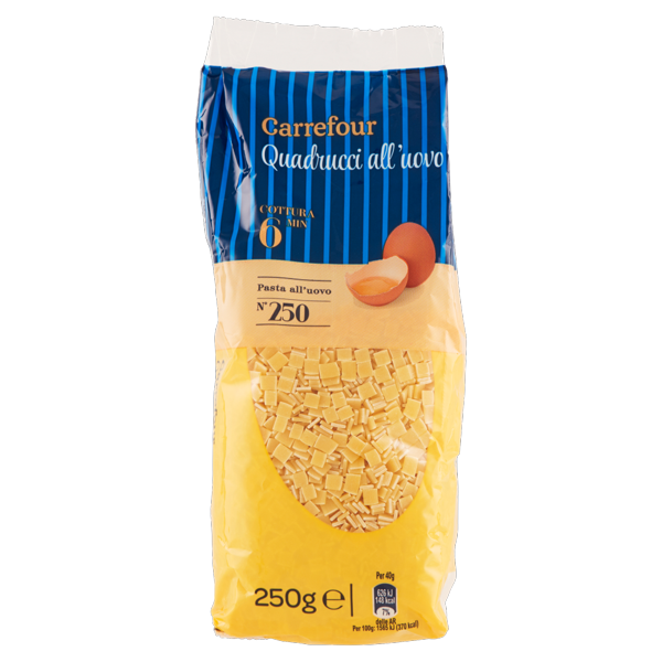 Image of Carrefour Quadrucci all'uovo N°250 250 g 822393