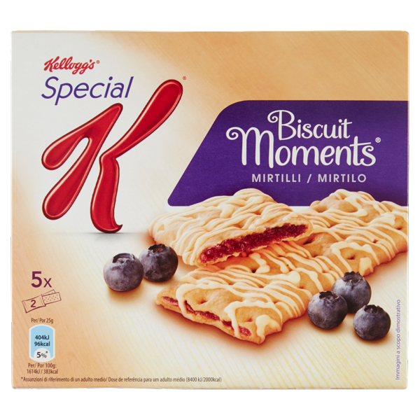 Image of Kellogg's Special K Biscuit Moments Mirtilli 5 x 25 g 1435189