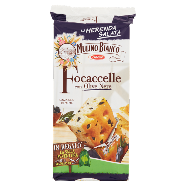 Image of Mulino Bianco Focaccelle con Olive Nere 210 g 1497320