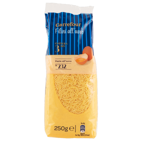 Image of Carrefour Filini all'uovo N°232 250 g 822390