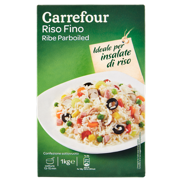 Image of Carrefour Riso Fino Ribe Parboiled per insalate 1 kg 861404