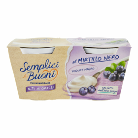 2 YOGURT MAGRO MIRTILLI NERI