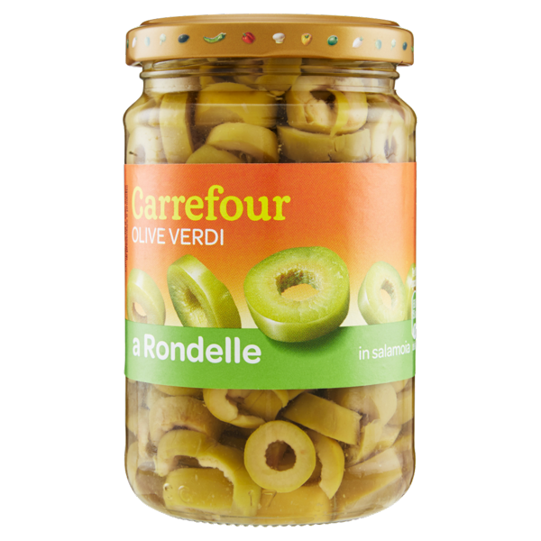 Image of Carrefour Olive Verdi a Rondelle in salamoia 290 g 993423