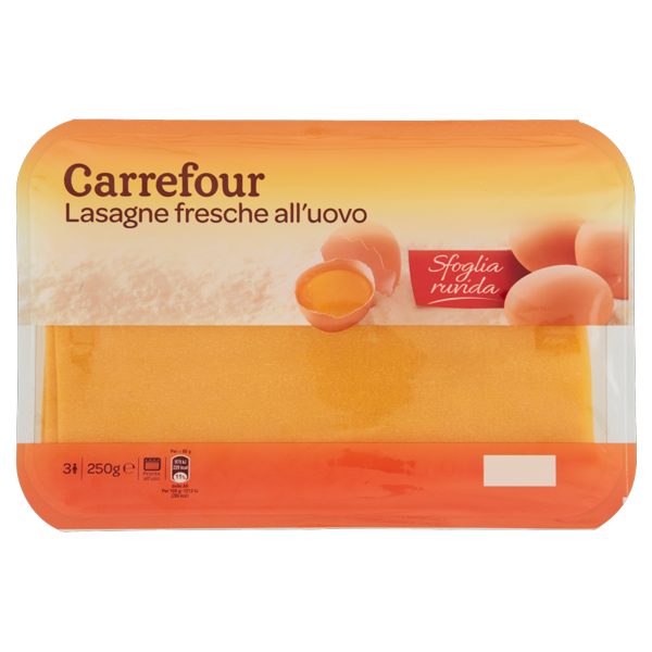 Image of Carrefour Lasagne fresche all'uovo 250 g 1236832
