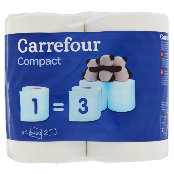 Image of Carrefour Compact Carta Igienica x4 1439190