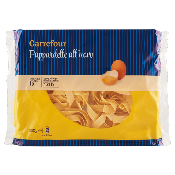 Image of Carrefour Pappardelle all'uovo N°216 250 g 822385
