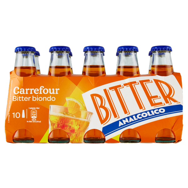 Image of Carrefour Bitter biondo 10 x 100 ml 1088132